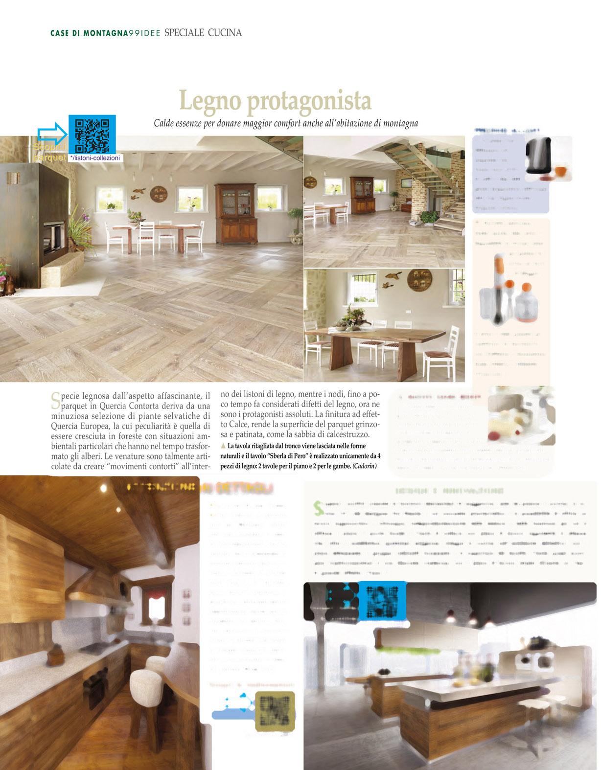 Parquet in legno su riviste arredamento febbraio 2014 for Riviste su arredamento casa
