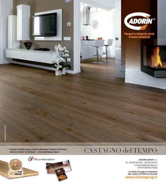 Parquet in legno su riviste arredamento giugno 2012 cadorin for Riviste su arredamento casa