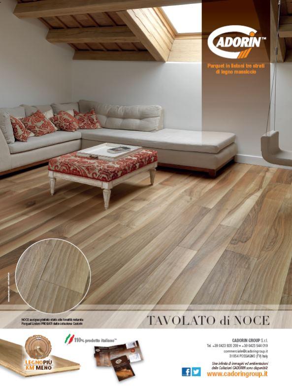 Parquet in legno su riviste arredamento maggio 2013 cadorin for Casa maggio