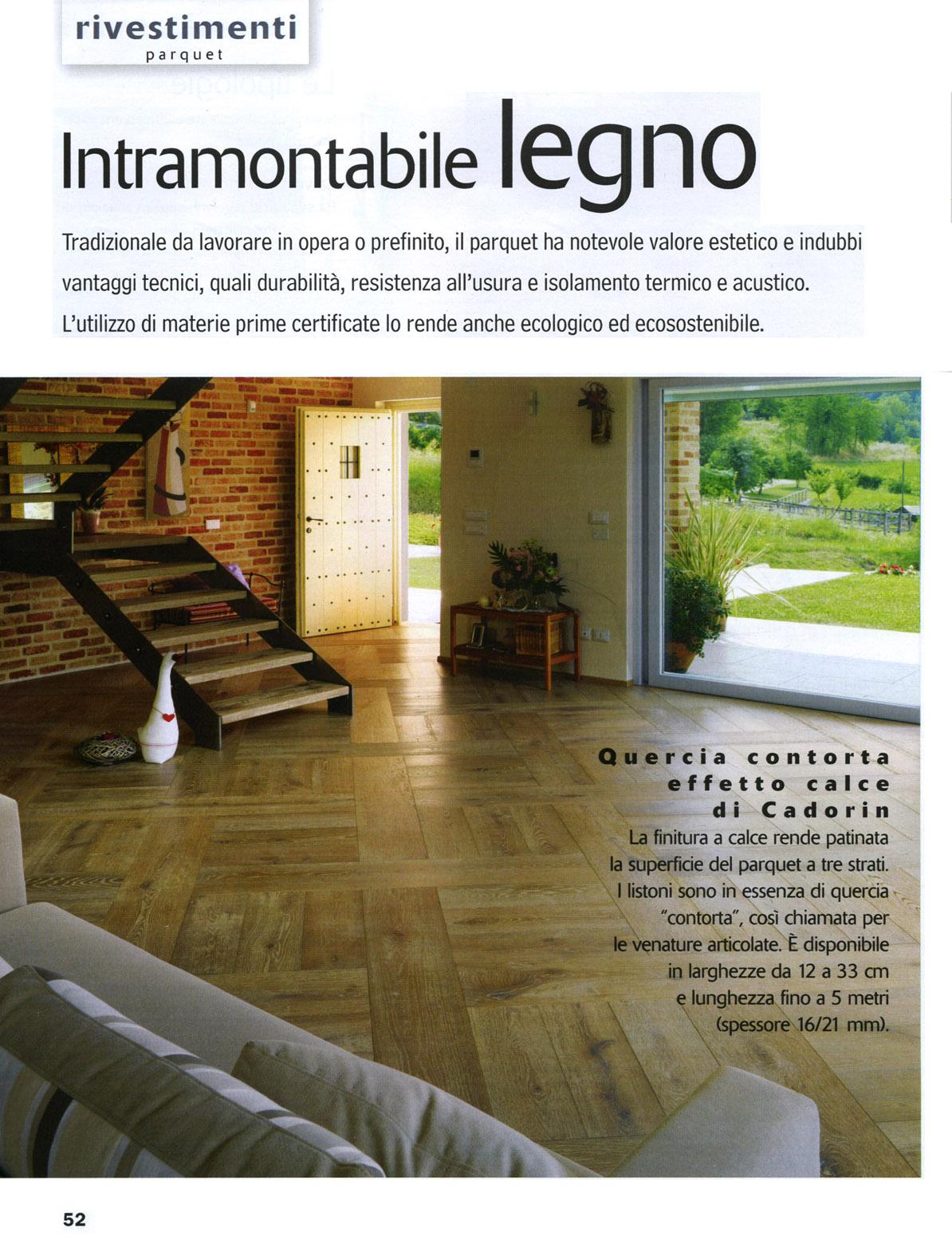 Parquet in legno su riviste arredamento marzo 2014 cadorin for Riviste su arredamento casa