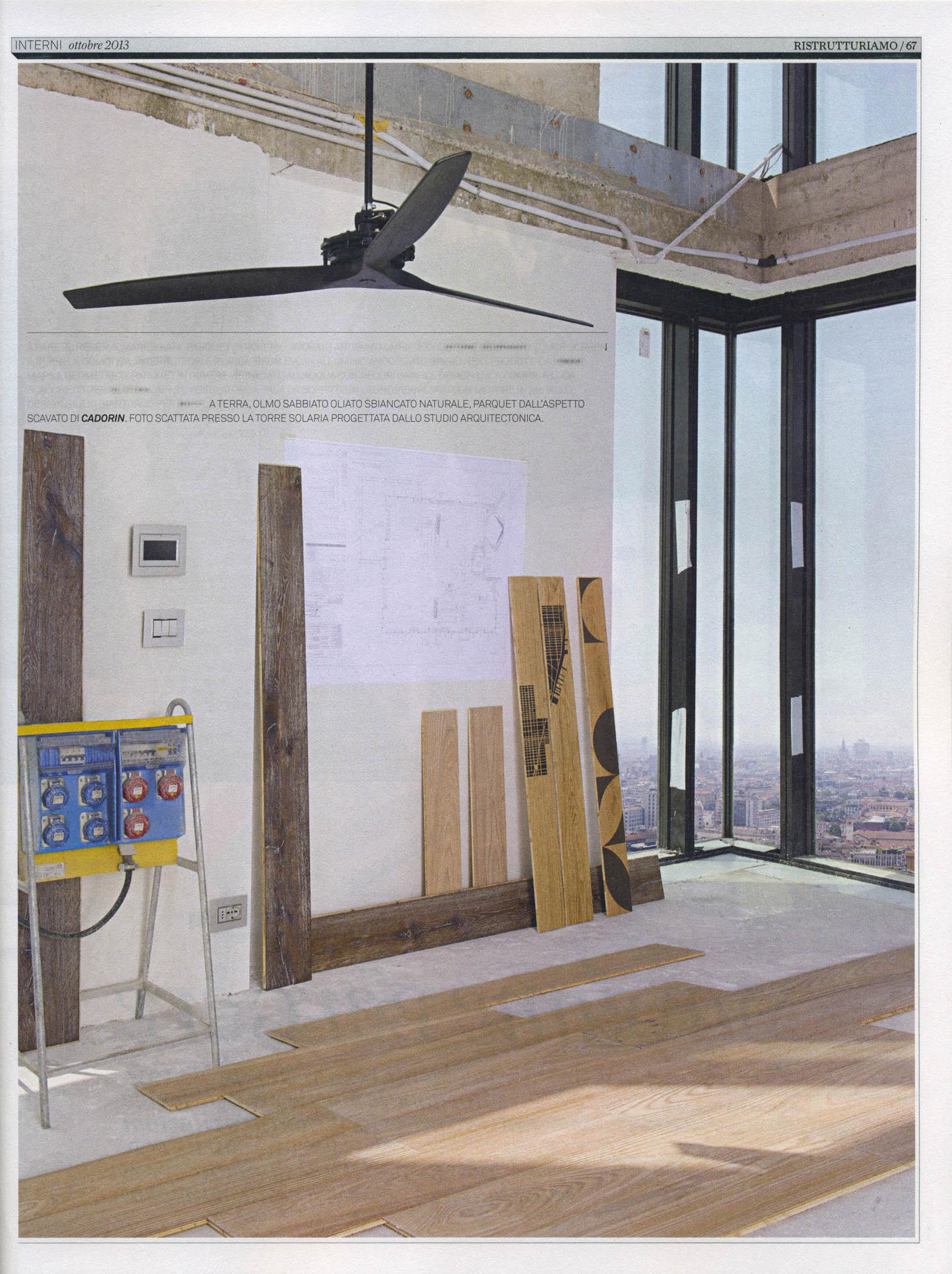 Parquet in legno su riviste arredamento ottobre 2013 cadorin for Riviste di arredamento casa