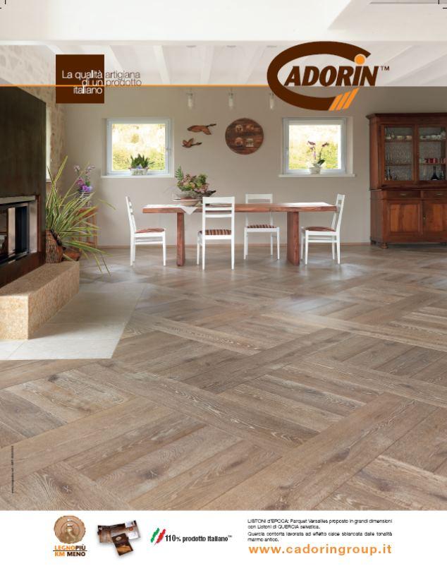 Parquet in legno su riviste arredamento ottobre 2013 cadorin for Riviste su arredamento casa