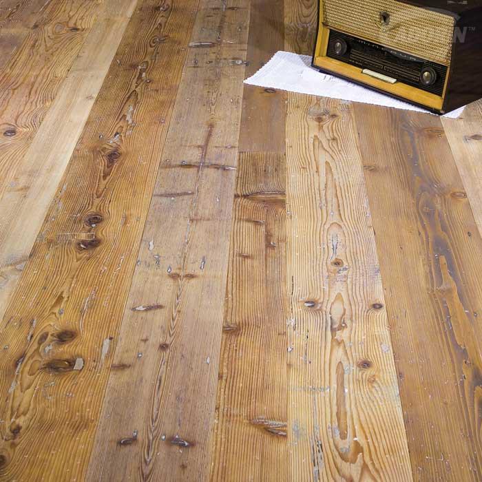 Pavimento in legno a parquet di abete antico cadorin - Tavole di larice piallate ...