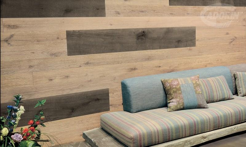 Moduli disegno a parete di listoni in legno massiccio cadorin cadorin - Rivestimento parete camera da letto ...
