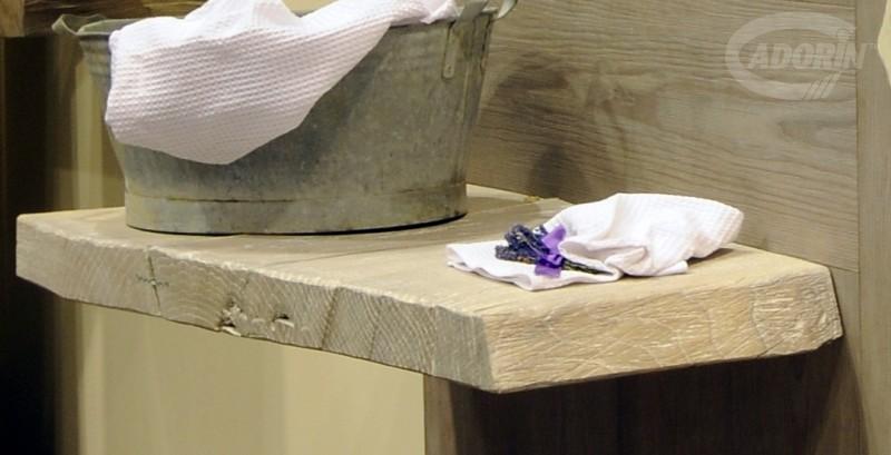 Top lavabo in legno di Quercia Europea by Cadorin Parquet - CADORIN