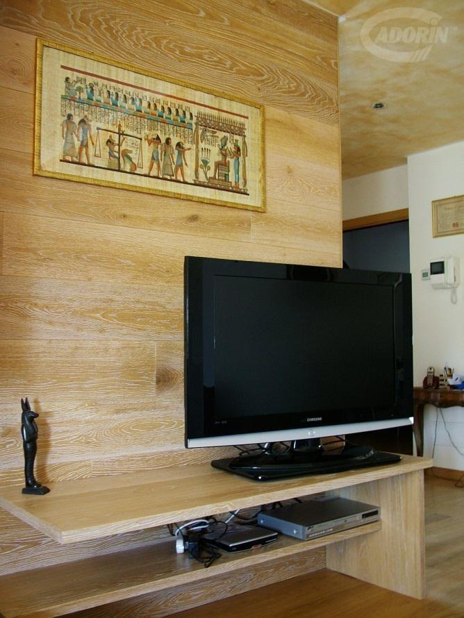 Conosciuto Moduli disegno a parete di listoni in legno massiccio Cadorin  EV98