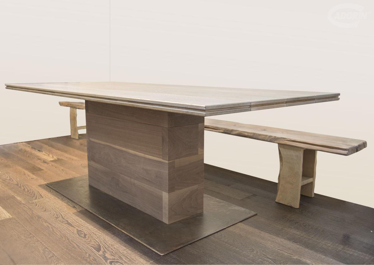 Distanza Panca Da Tavolo : Tavolo listoni 3 strati in legno di rovere cadorin