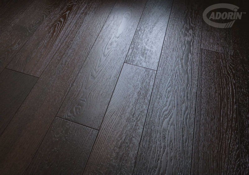 parquet prefinito in rovere scuro weng cadorin. Black Bedroom Furniture Sets. Home Design Ideas