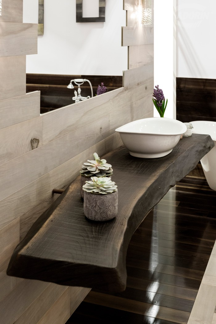 Top lavabo bagno in vecchia noghera toc de toe design - Top lavabo bagno ...
